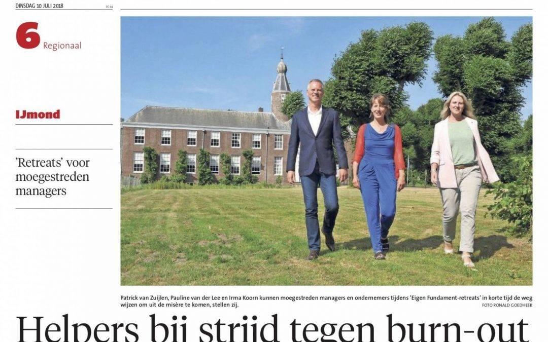 Noord-Hollands Dagblad: helpers bij strijd tegen burn-out