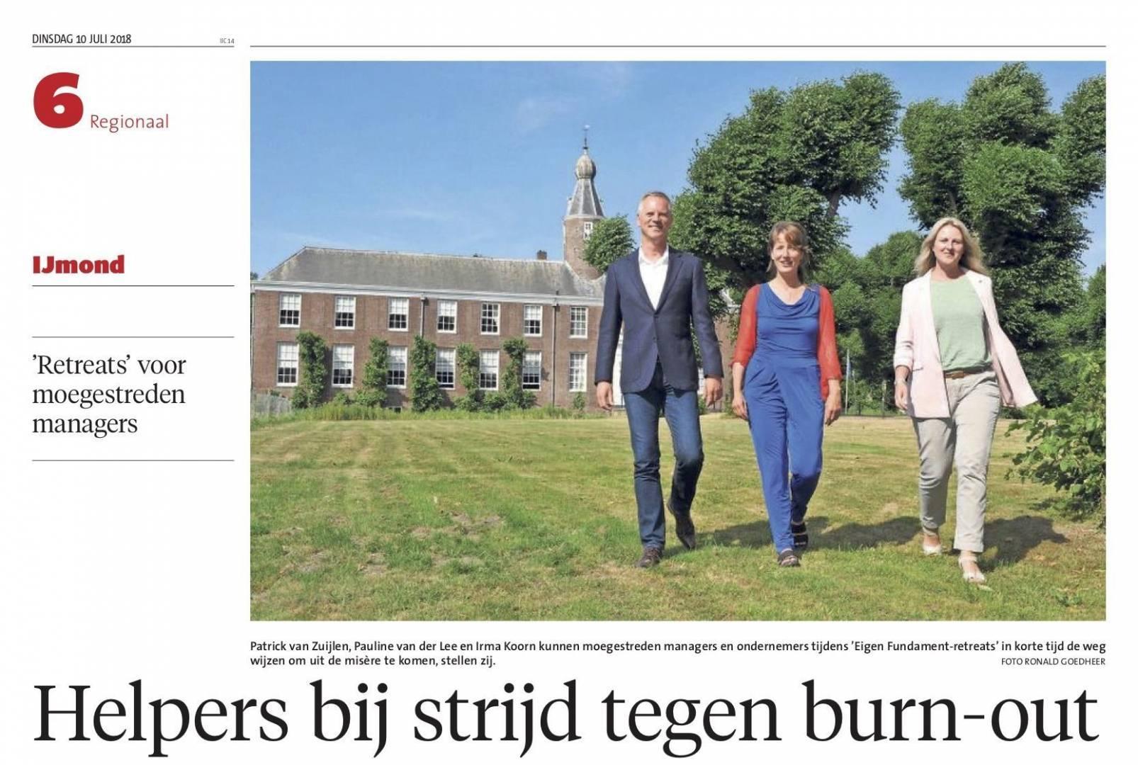 artikel-strijd-burnout-noordhollands-dagblad