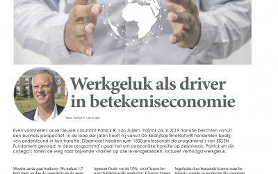 Column 'Krant van de Aarde': betekeniseconomie & werkgeluk